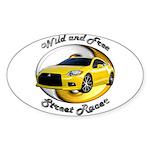 Mitsubishi Eclipse Sticker (Oval 10 pk)