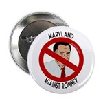 Maryland Against Romney campaign button