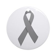 Gray Ribbon Ornament (Round)