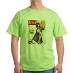 Flirt Pin Up Beauty Girl with Dog Green T-Shirt