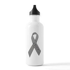 Gray Ribbon 'Survivor' Water Bottle