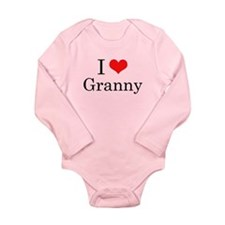I Love Granny Long Sleeve Infant Bodysuit