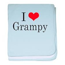 I Love Grampy baby blanket