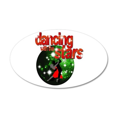 Dancing with the Stars Green 38.5 x 24.5 Oval Wall