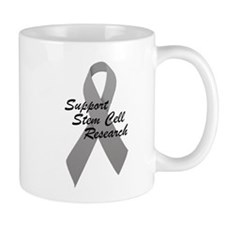 Gray Ribbon Support Stem Cell Research Mug