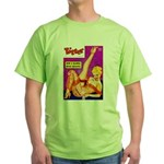 Titter Leggy Blonde Beauty Pin Up Green T-Shirt