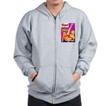 Titter Leggy Blonde Beauty Pin Up Zip Hoodie