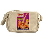 Titter Leggy Blonde Beauty Pin Up Messenger Bag