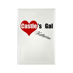 Personalizable Castle's Gal Rectangle Magnet (100