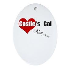 Personalizable Castle's Gal Ornament (Oval)
