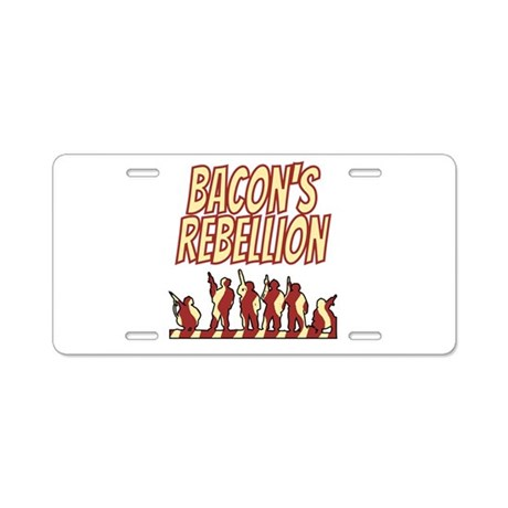 Bacon's Rebellion Aluminum License Plate