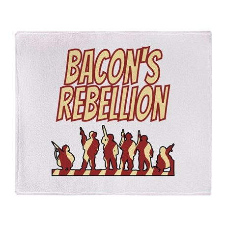 Bacon's Rebellion Throw Blanket