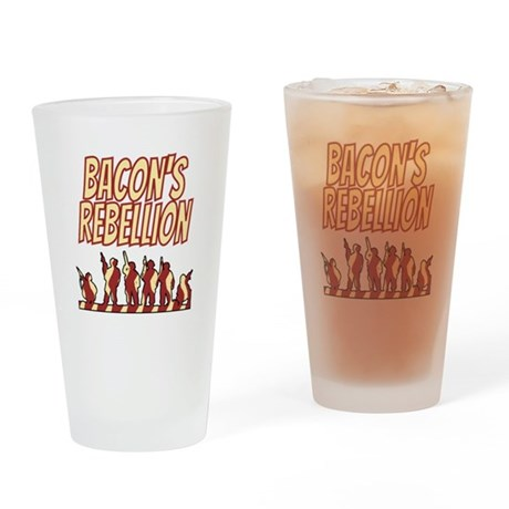 Bacon's Rebellion Drinking Glass