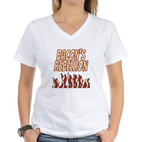 Bacon's Rebellion Women's V-Neck T-Shirt