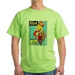 Flirt Vintage Pin Up Girl Warming Up Green T-Shirt