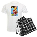 Flirt Vintage Pin Up Girl Warming Up Men's Light P