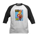Flirt Vintage Pin Up Girl Warming Up Kids Baseball