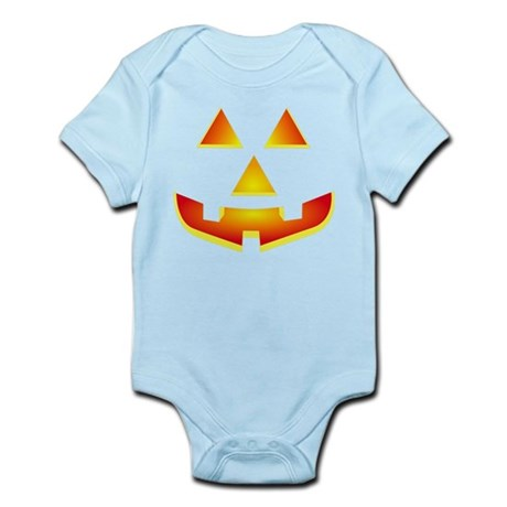 Jack 'O Lantern Pumpkin Glowing Face Infant Bodysu