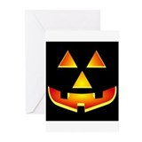 Jack 'O Lantern Pumpkin Glowing Face Greeting Card