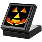 Jack 'O Lantern Pumpkin Glowing Face Keepsake Box