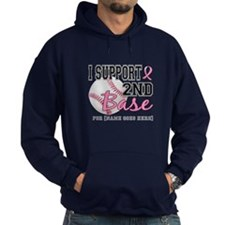 Second 2nd Base Breast Cancer Hoodie
