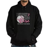 Second 2nd Base Breast Cancer Hoody