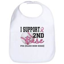 Second 2nd Base Breast Cancer Bib