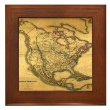 North America 1849 Framed Tile