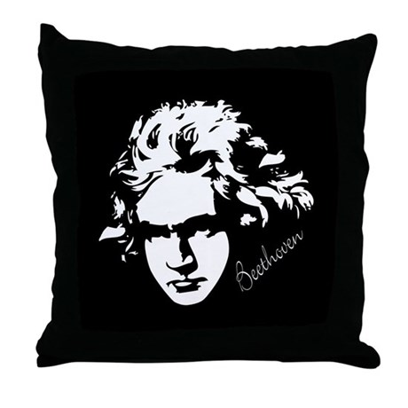 Beethoven Lover Music Throw Pillow Gift