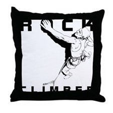 ROCK CLIMBER Throw Pillow