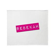 Rebekah Punchtape Throw Blanket