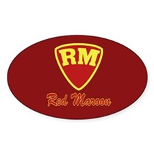 Castle Red Maroon Logo Sticker (Oval)