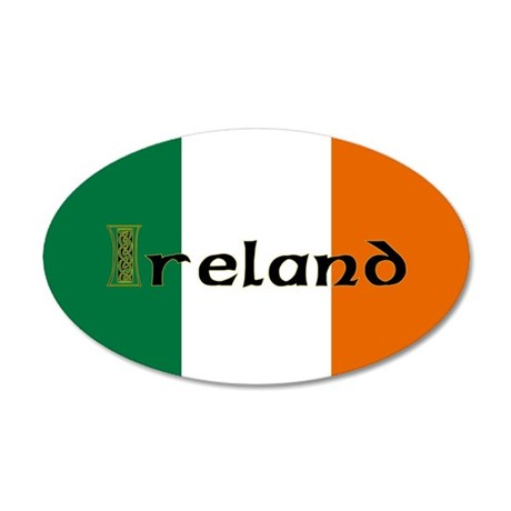 Irish Flag / Eire 35x21 Oval Wall Peel