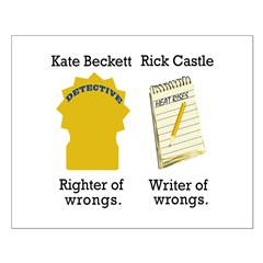 Castle - Righter Writer of Wrongs Posters