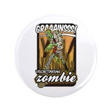 "Vegetarian Zombie 3.5"" Button"