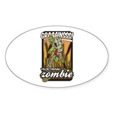 Vegetarian Zombie Sticker (Oval 50 pk)