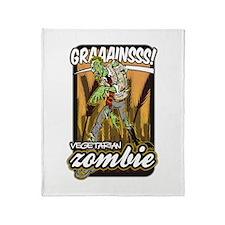 Vegetarian Zombie Throw Blanket