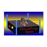 Wrestling Mania 22x14 Wall Peel