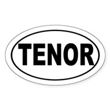 Tenor Singer Decal