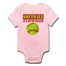 Girls Softball Infant Bodysuit