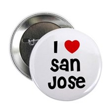 "I * San Jose 2.25"" Button (10 pack)"