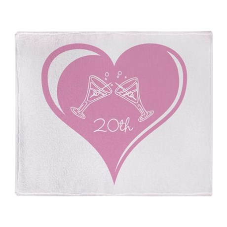 20th Wedding Anniversary Throw Blanket
