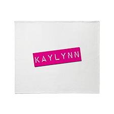 Kaylynn Punchtape Throw Blanket
