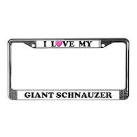 Giant Schnauzer License Plate Frames