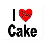 I Love Cake Small Poster
