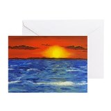 Cute Sunset seascape Greeting Cards (Pk of 10)