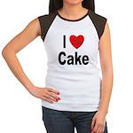 I Love Cake (Front) Women's Cap Sleeve T-Shirt