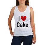 I Love Cake Women's Tank Top