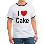 I Love Cake (Front) Ringer T