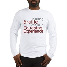 Long Sleeve T-Shirt - Braille Touch